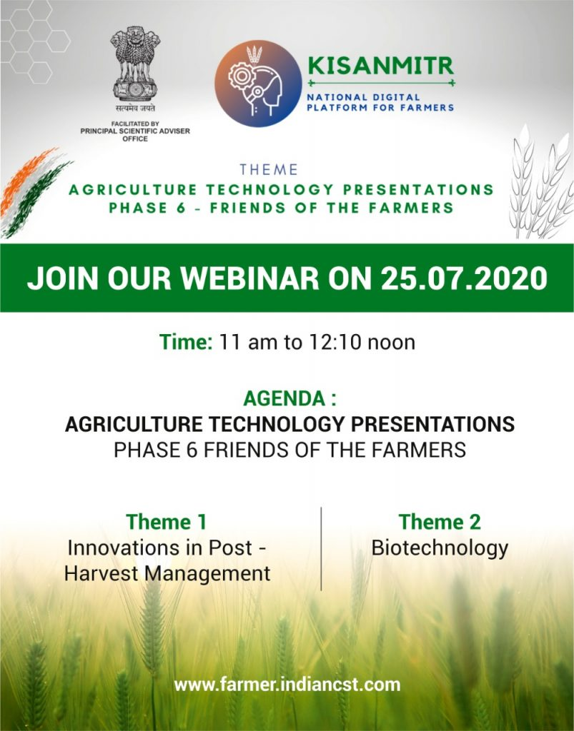 Innovation in post harvest & biotech webinar